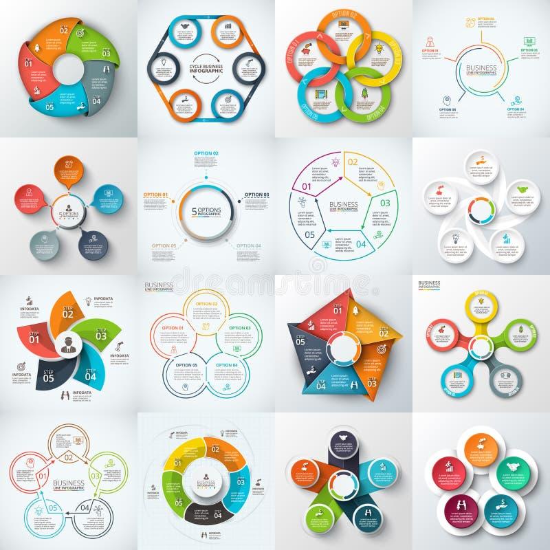 Sistema grande de los elementos del vector para infographic ilustración del vector