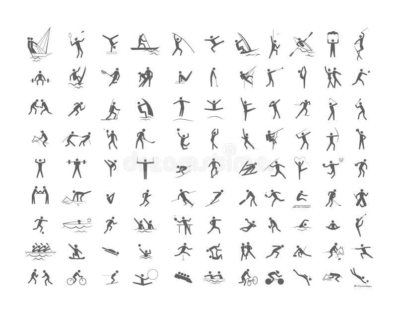 Sistema grande de los juegos olímpicos del deporte ilustración del vector