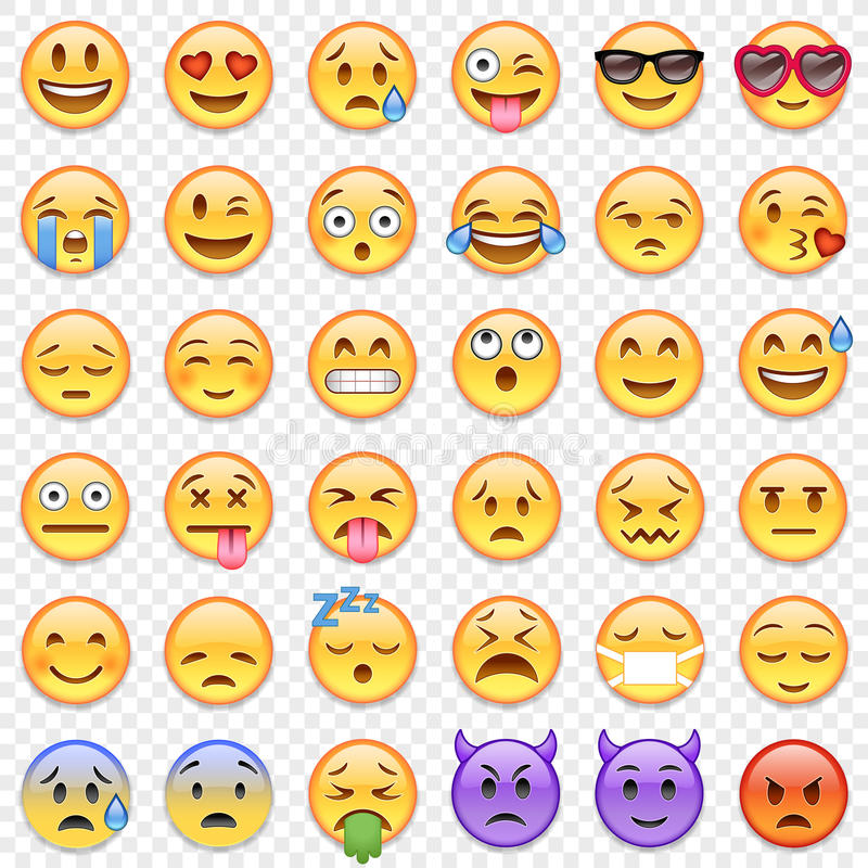 Sistema grande del Emoticon del vector