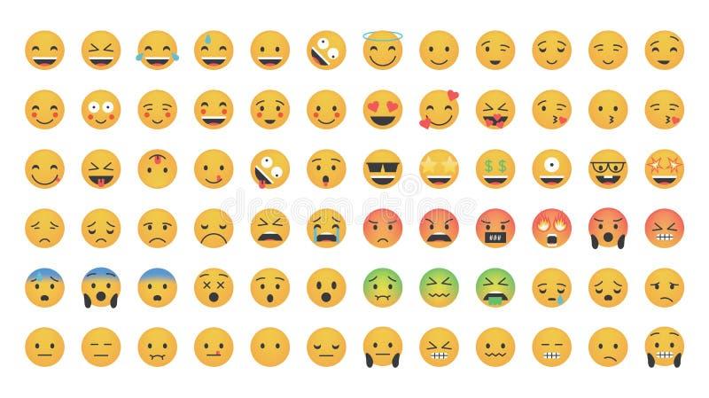 Sistema grande del vector del emoticon libre illustration