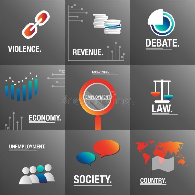 Sistema grande para hablar de problemas y de economía de la violencia libre illustration