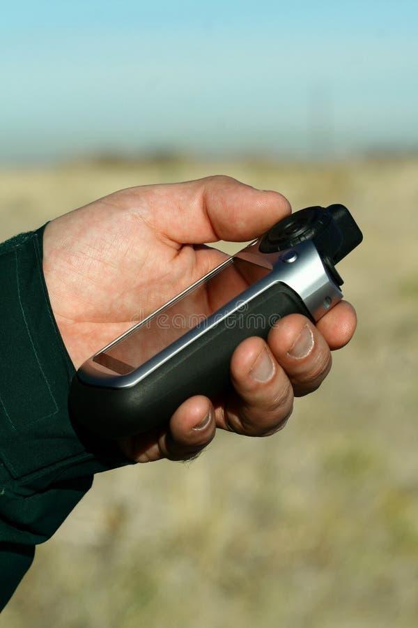Sistema Handheld do GPS fotografia de stock
