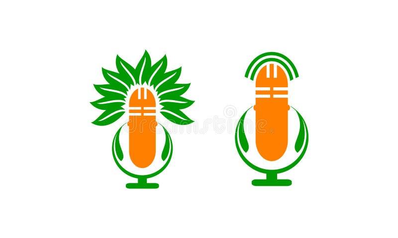 Sistema herbario médico de la voz ilustración del vector