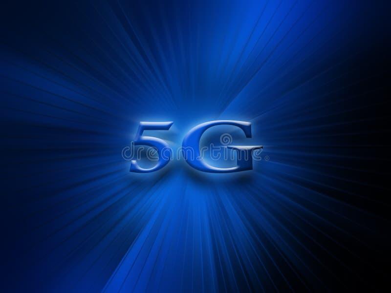sistema inal?mbrico de red 5G y fondo de la conexi?n a internet red de comunicaciones del s?mbolo 5G Bandera del concepto de la t ilustración del vector