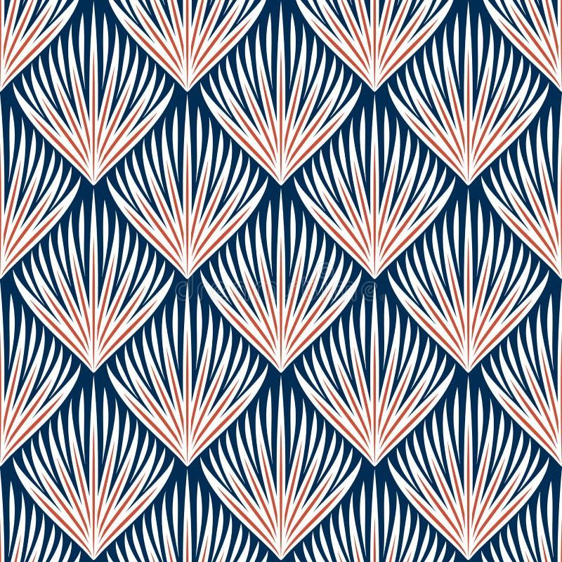 Sistema inconsútil abstracto elegante del fondo ilustración del vector