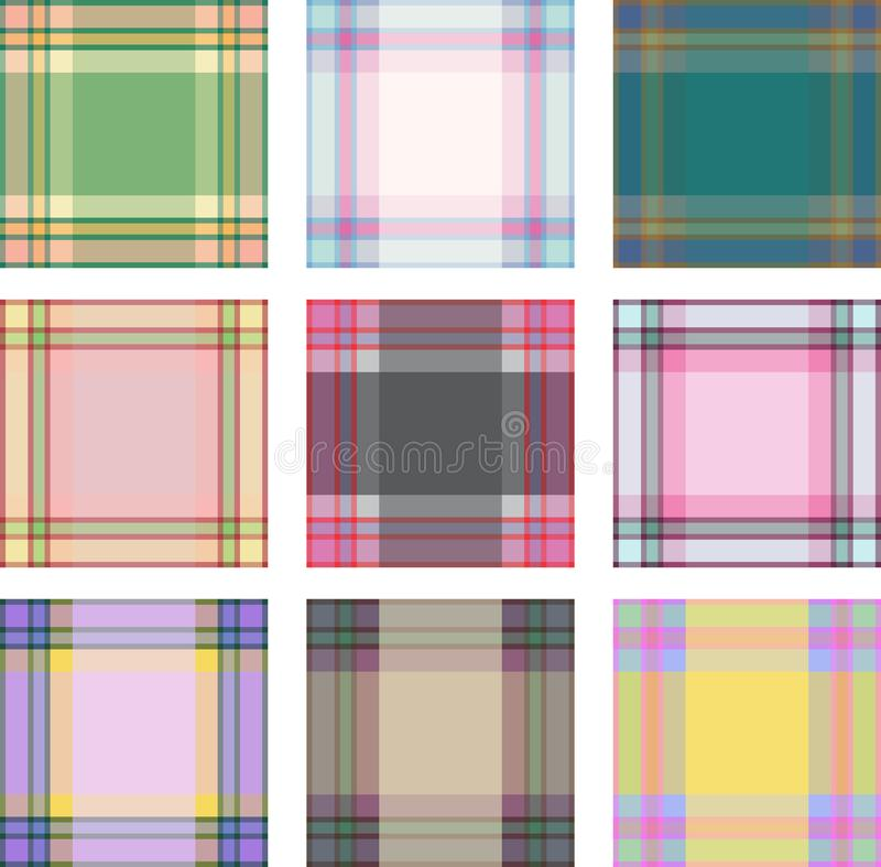 Sistema inconsútil del fondo del modelo de la tela escocesa, ejemplo foto de archivo libre de regalías