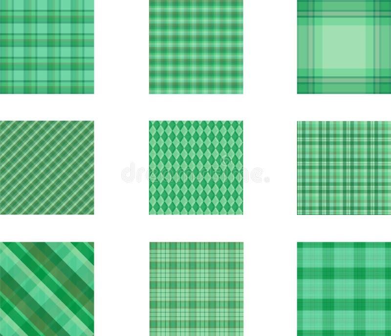Sistema inconsútil del fondo del modelo de la tela escocesa, ejemplo imagen de archivo