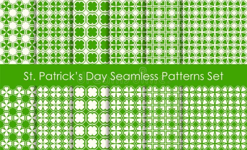 Sistema inconsútil del modelo del día de fiesta del día del St Patricks Shamro tradicional libre illustration