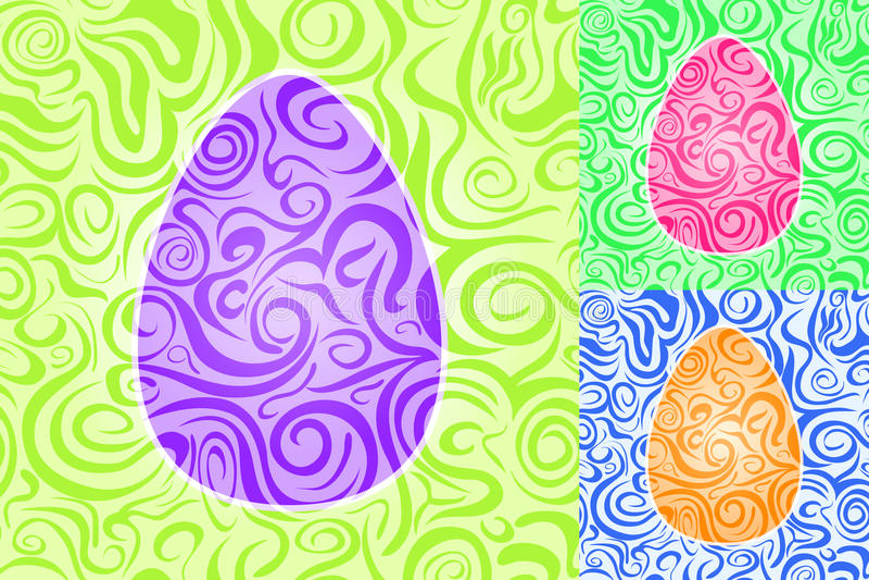 Sistema inconsútil del modelo del remolino del extracto de Pascua libre illustration