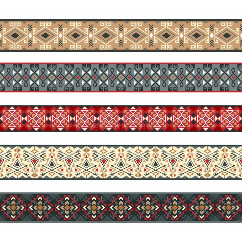 Sistema indio americano del modelo de las cintas libre illustration