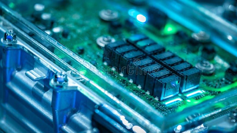 Sistema industrial da placa de circuito eletrônico fotografia de stock royalty free