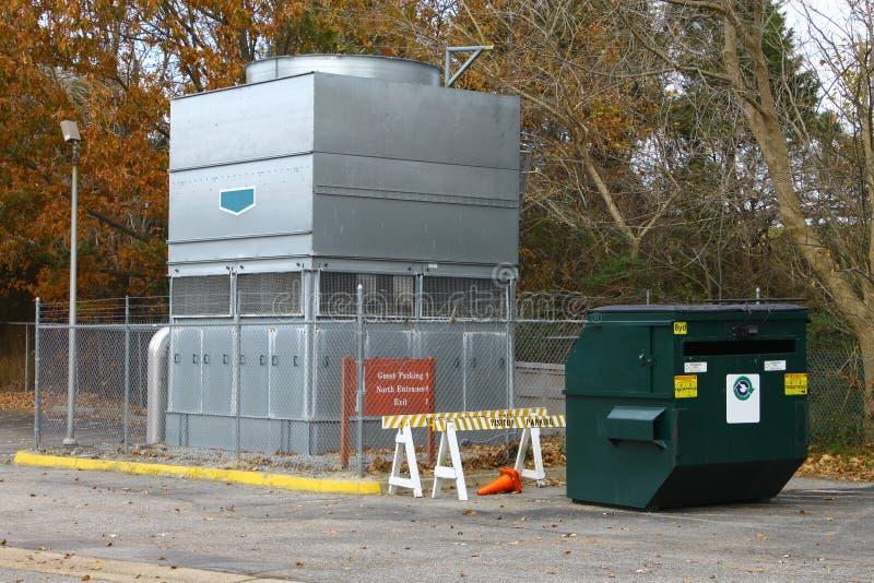 Sistema industrial de la CA de la pompa de calor imagenes de archivo