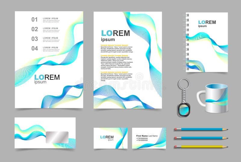 Sistema infographic de la plantilla de los elementos de la presentación del negocio stock de ilustración