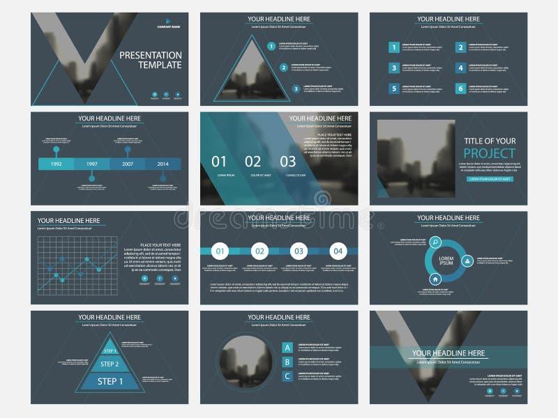 Sistema infographic de la plantilla de los elementos de la presentación del negocio, anual libre illustration