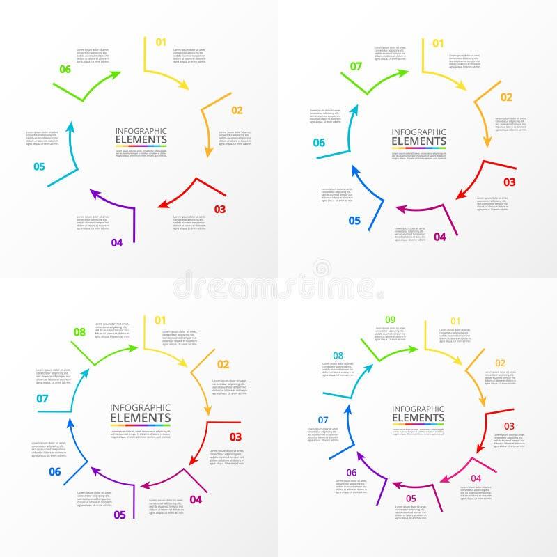 Sistema infographic del círculo del vector libre illustration