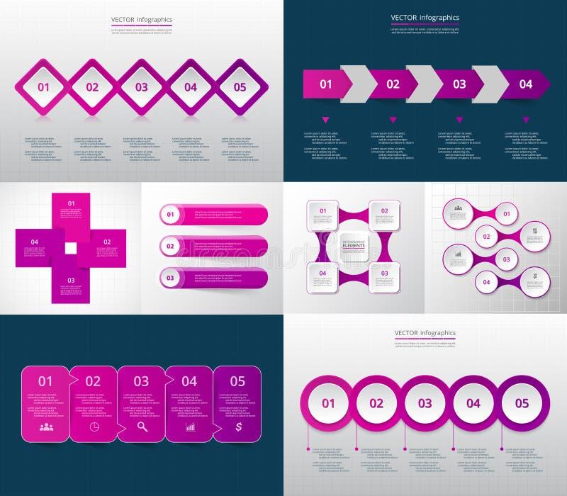 Sistema infographic del círculo del vector ilustración del vector