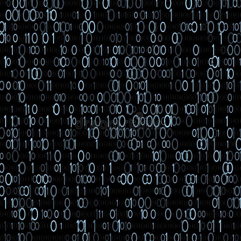 Sistema informático binário Aritmética do computador A unidade mínima de informação Vetor ilustração royalty free