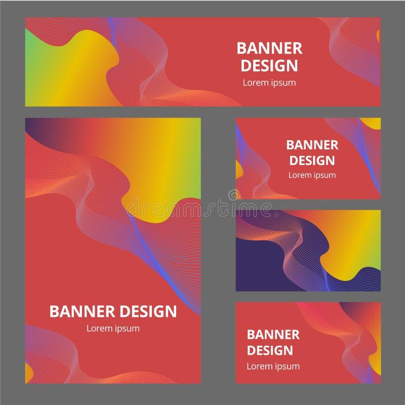 Sistema inmóvil de la maqueta del vector de objetos realistas de la oficina con la identidad de marca abstracta del diseño Artícu ilustración del vector