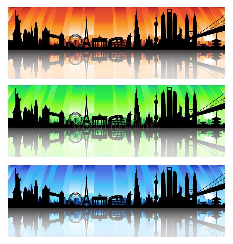 Sistema internacional del horizonte stock de ilustración