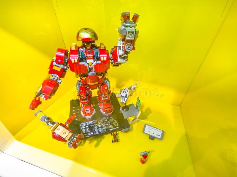 Sistema Ironman Hulkbuster de Lego fotos de archivo