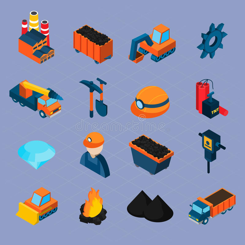 Sistema isométrico de la industria hullera libre illustration