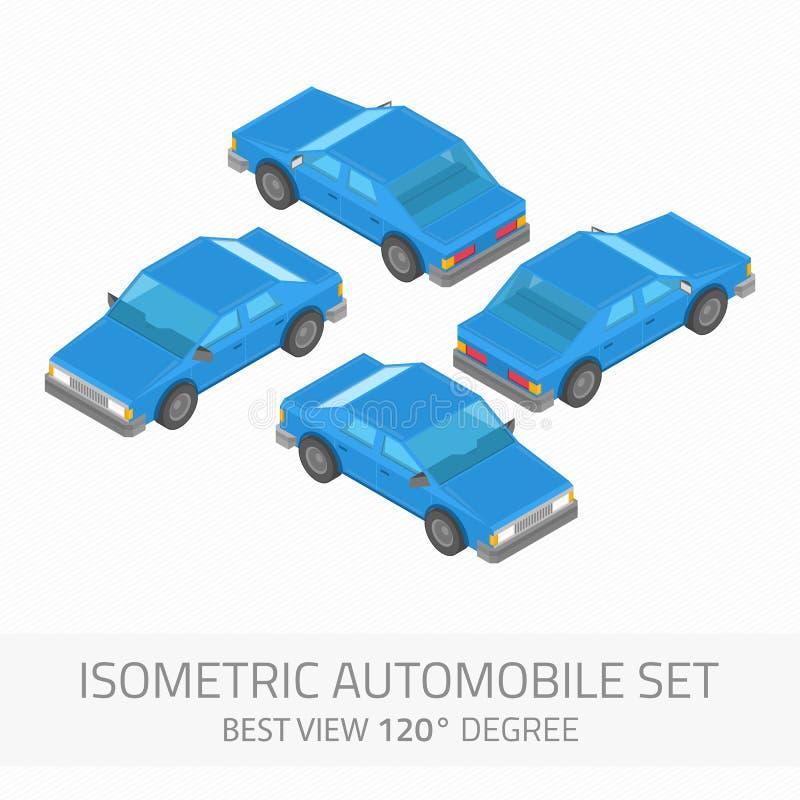 Sistema isométrico del automóvil stock de ilustración