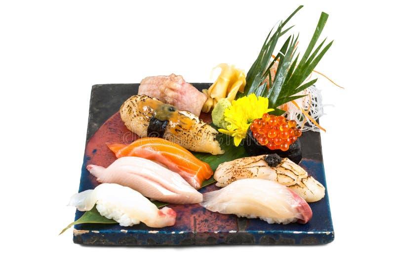 Sistema japonés del sushi del sashimi fotografía de archivo