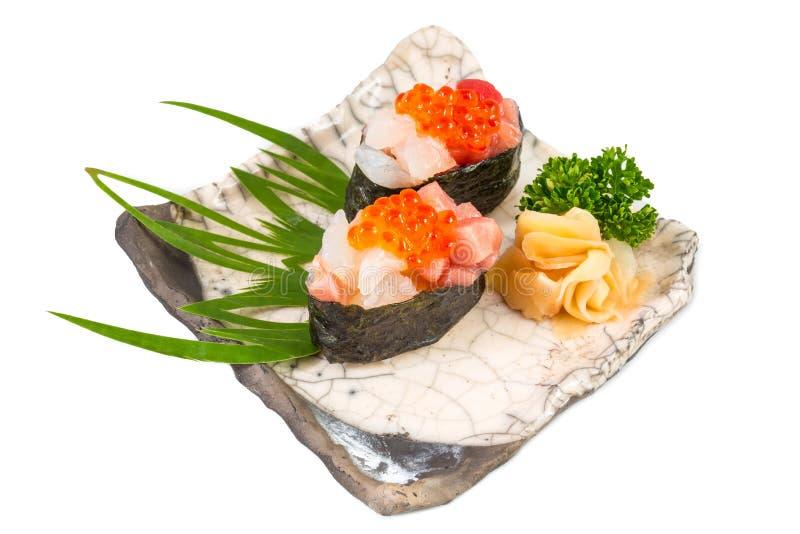 Sistema japonés del sushi del sashimi imágenes de archivo libres de regalías