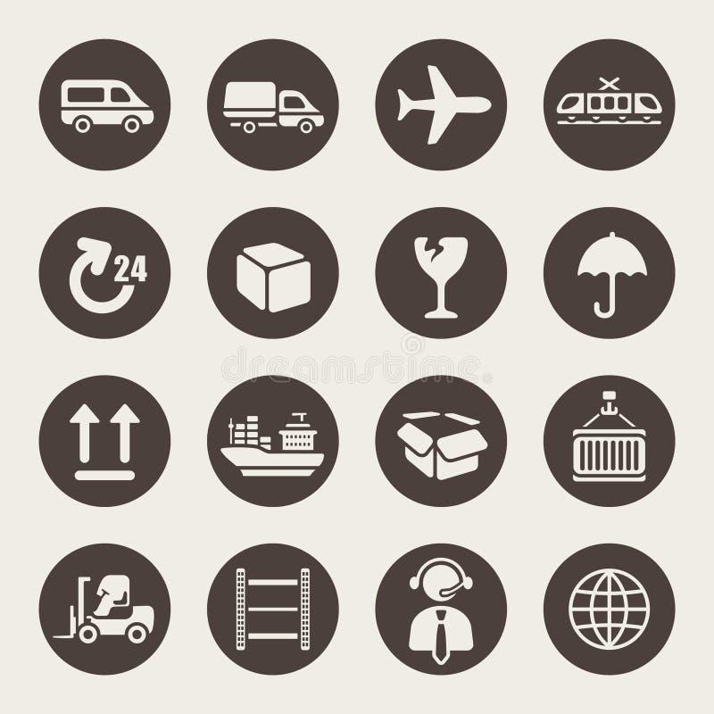 Sistema logístico del icono ilustración del vector