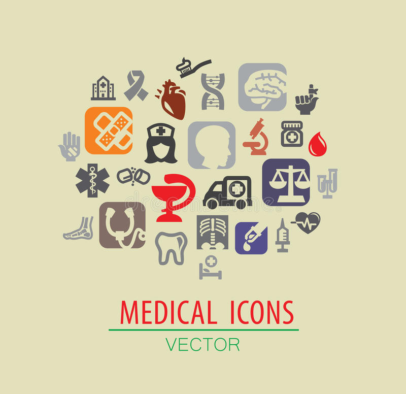Sistema médico del icono libre illustration