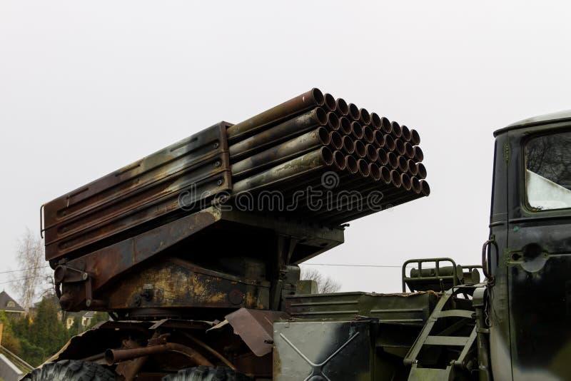 Sistema m?ltiple regimental del cohete del lanzamiento fotografía de archivo libre de regalías