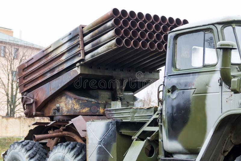 Sistema m?ltiple regimental del cohete del lanzamiento foto de archivo libre de regalías