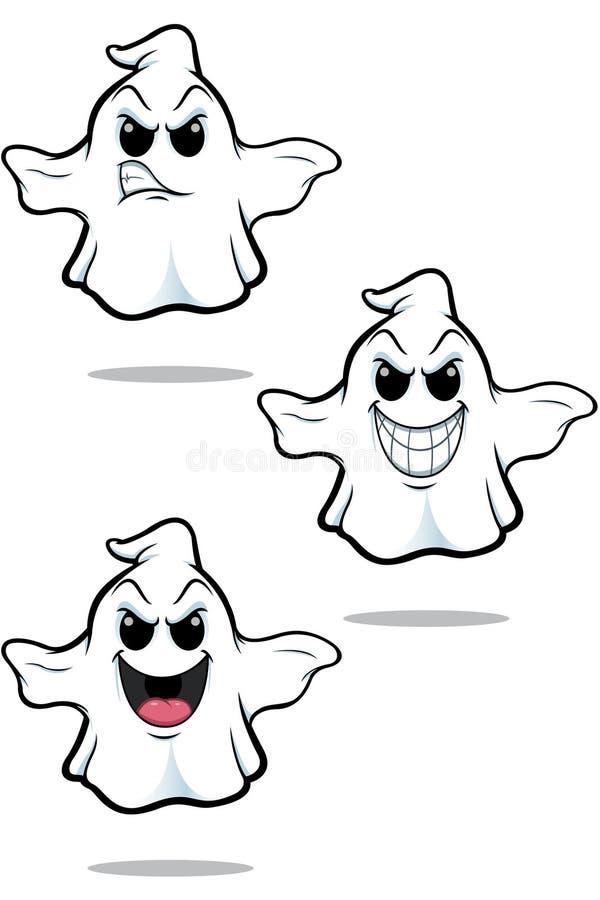Sistema malo del fantasma de la historieta libre illustration