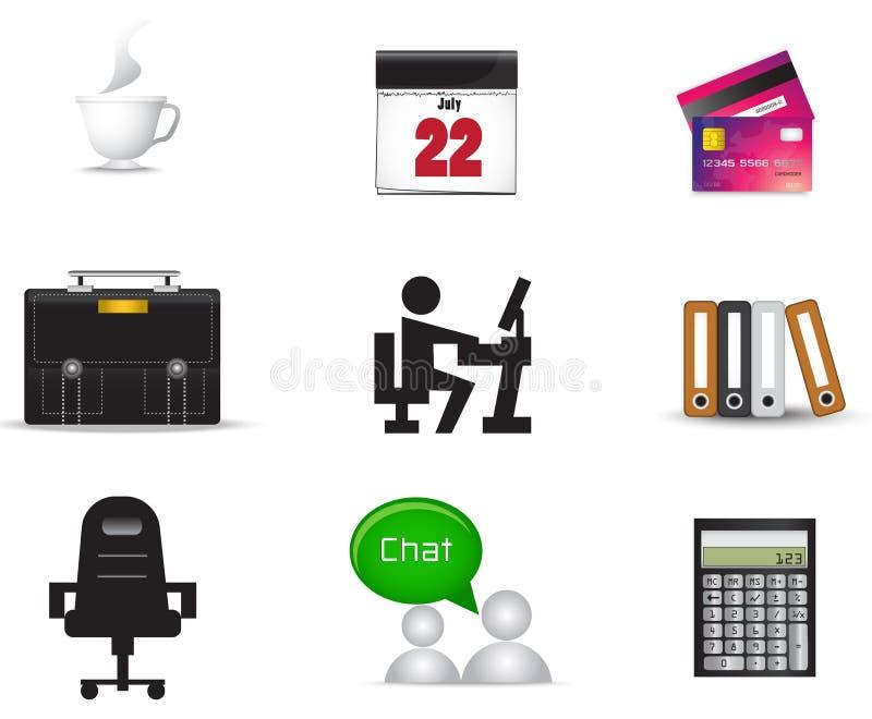 Sistema material de la colecci n del icono de la oficina for Material de oficina precios