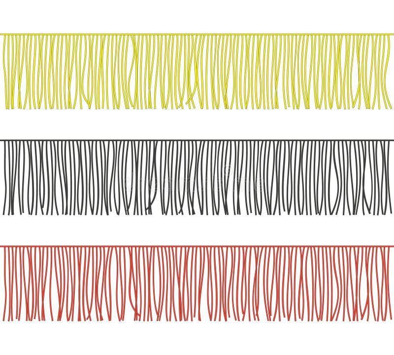 Sistema medio de las fronteras del ajuste de la franja del color Vector ilustración del vector