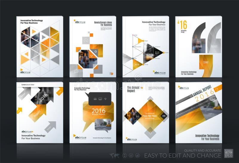 Sistema mega de la plantilla del vector del negocio La disposición del folleto, cubre moderno libre illustration
