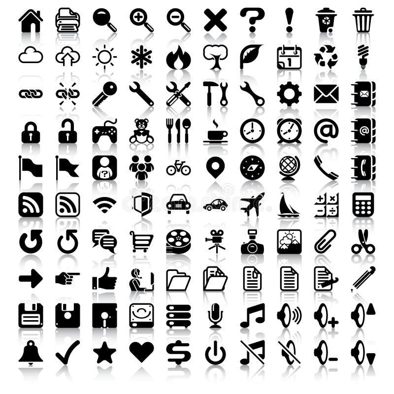 Sistema minimalista del icono ilustración del vector