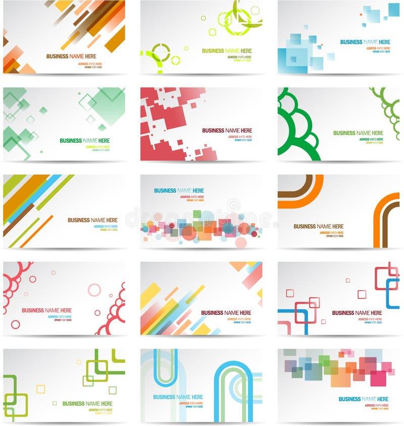 Sistema moderno de la tarjeta de visita libre illustration