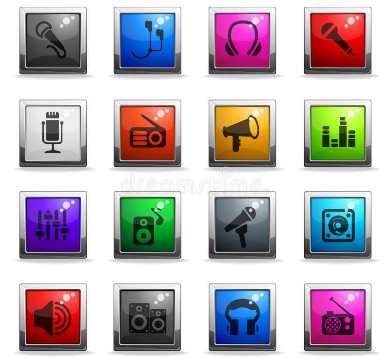 Sistema musical del icono del equipo libre illustration