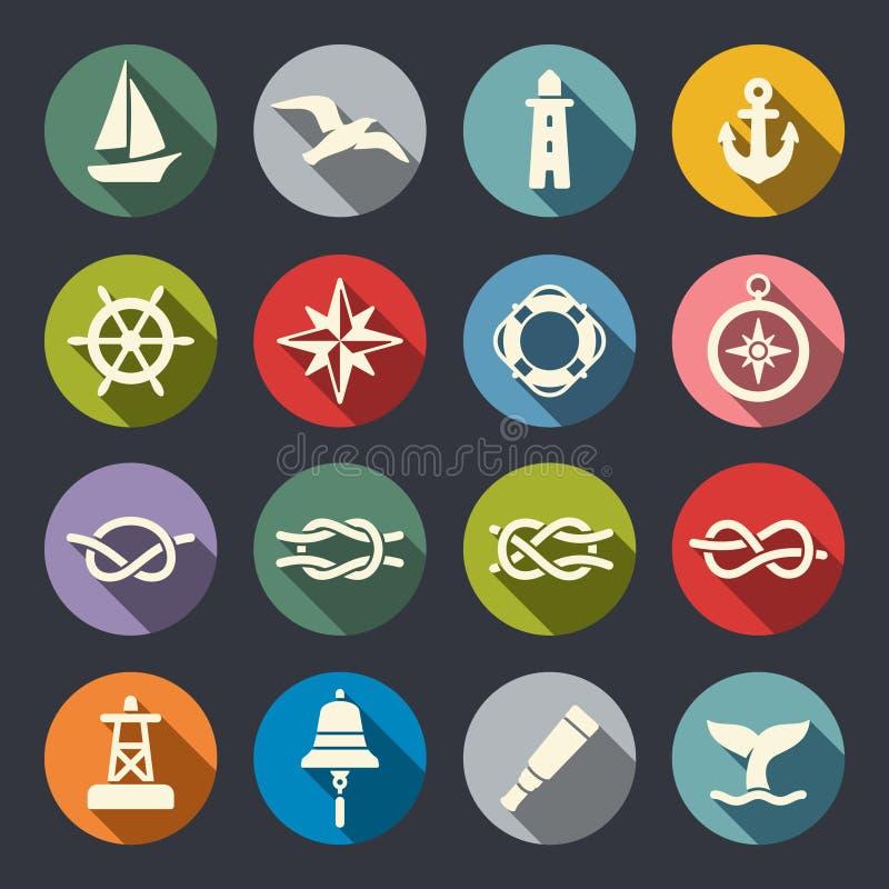 Sistema náutico del icono libre illustration