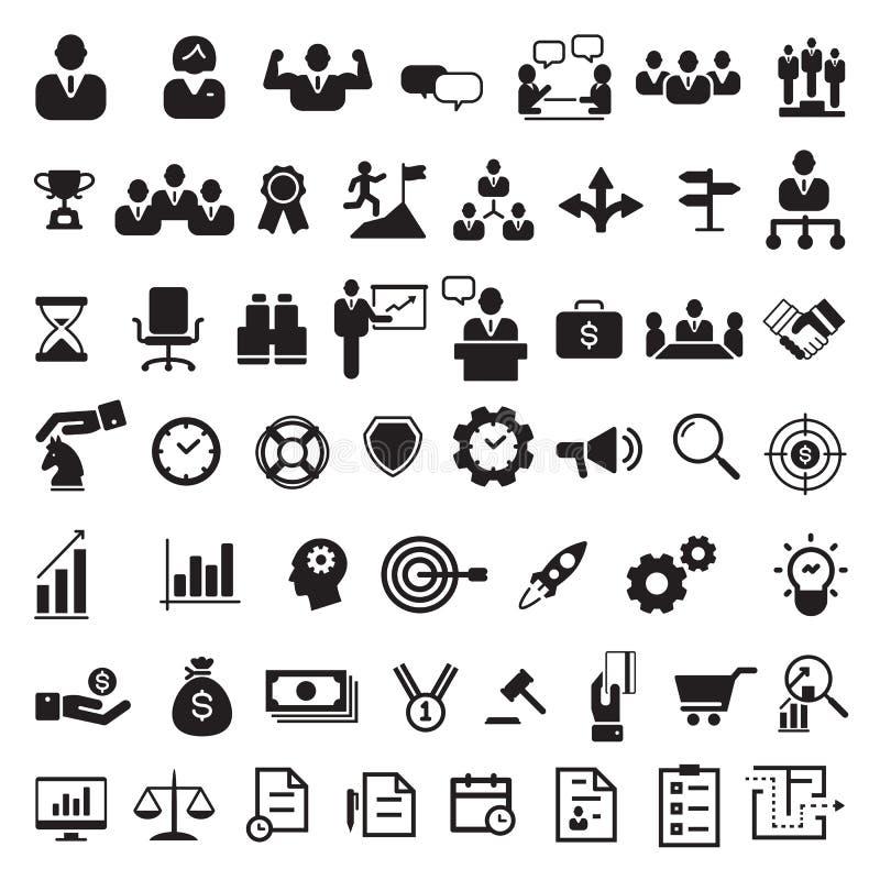 Sistema negro del icono del negocio, vector libre illustration