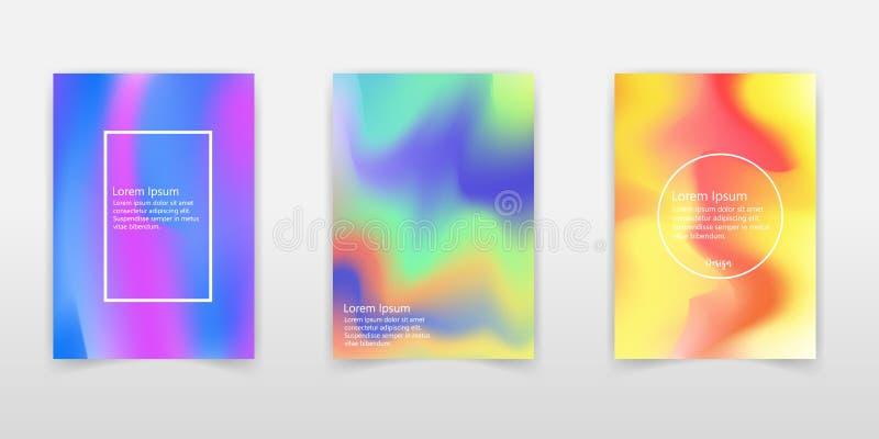 Sistema olográfico del cartel Abstraiga los fondos Hologra futurista libre illustration