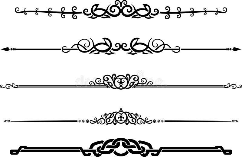 Sistema ornamental de la regla de la página de la decoración libre illustration