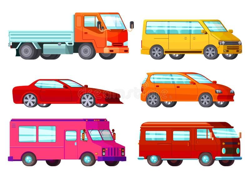 Sistema ortogonal del coche ilustración del vector
