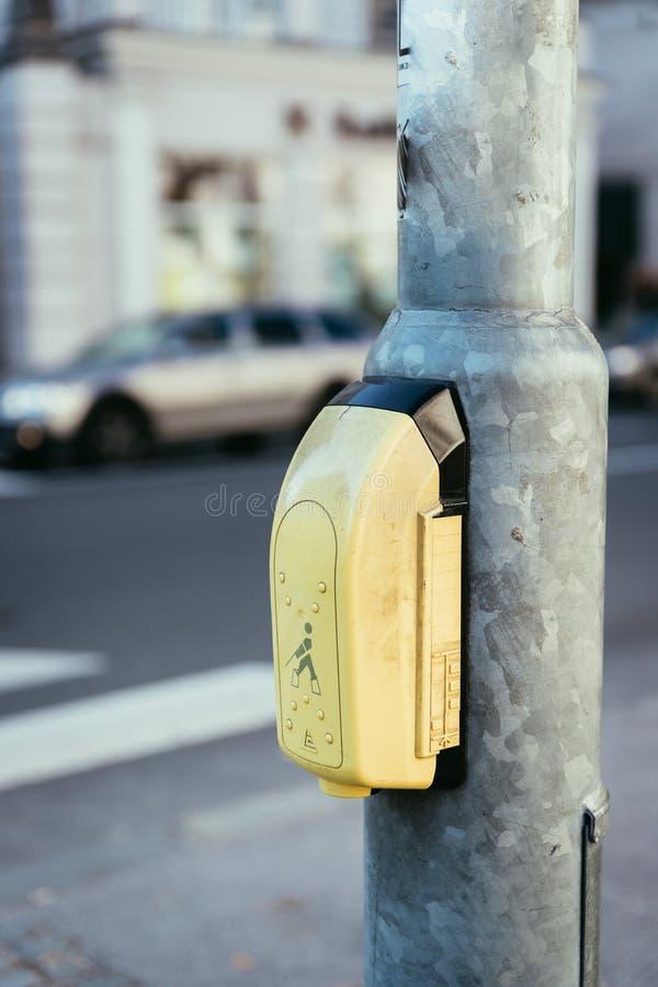 Sistema para la gente ciega, vida de la orientación de ciudad fotografía de archivo