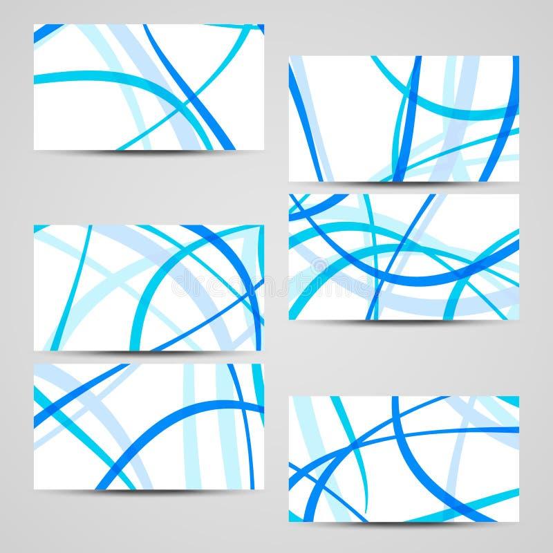 Sistema de la negocio-tarjeta del vector para su diseño fotografía de archivo libre de regalías