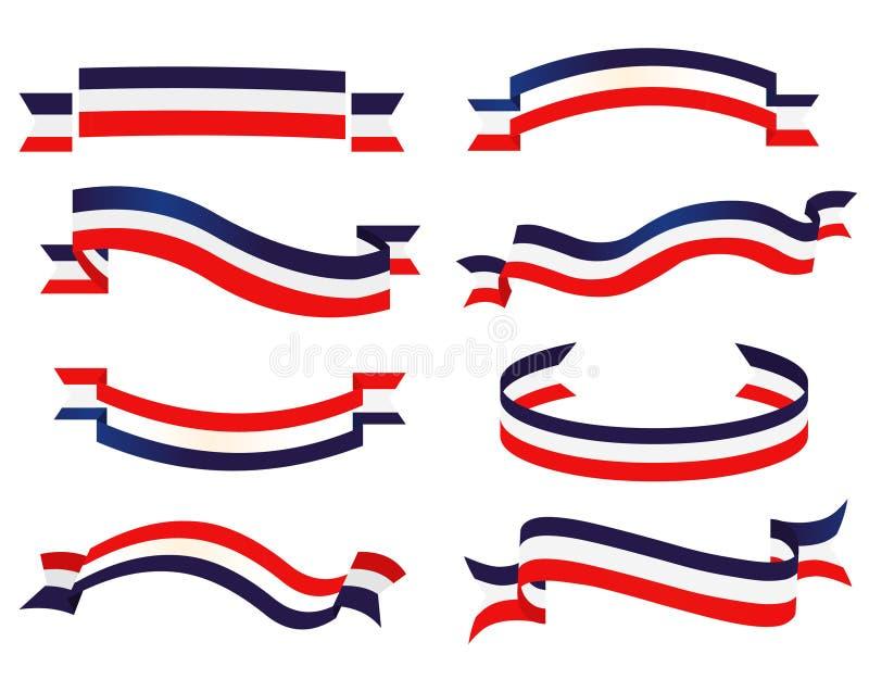 Sistema patriótico de la cinta stock de ilustración