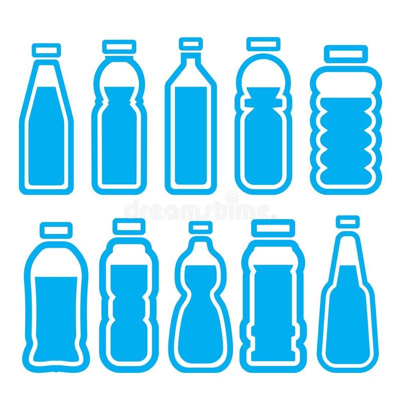Sistema plástico de la botella fotografía de archivo libre de regalías