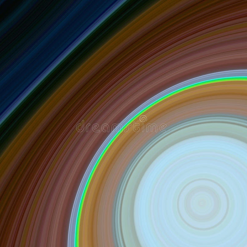 Sistema planetário de giro estilizado foto de stock royalty free