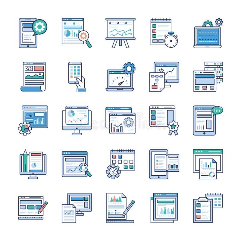 Sistema plano de los vectores de los elementos de Infographic stock de ilustración